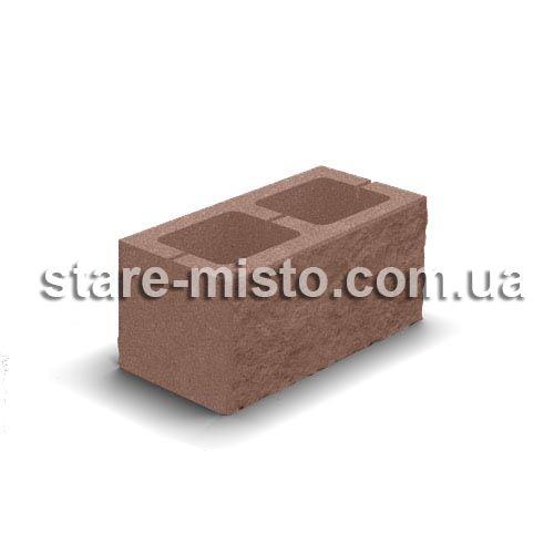 Блок декоративний 400x200x200 персиковий
