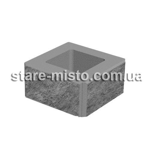 Блок декоративний 400x400x200 персиковий