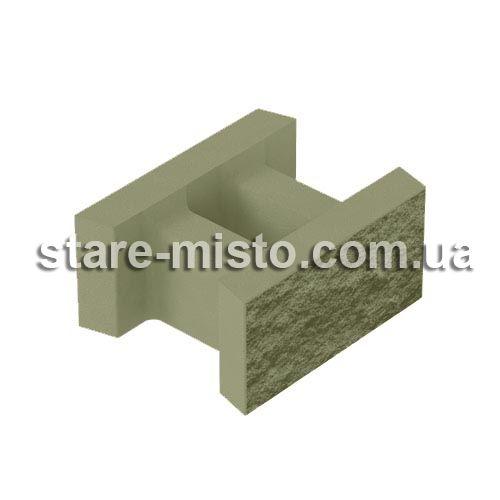 Блок декоративний незнімної опалубки 500x400x235 гірчичний