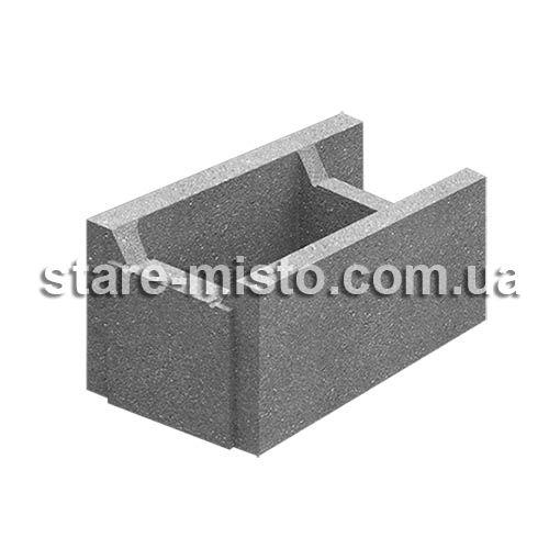 Блок незнімної опалубки бетонний 510x250x235