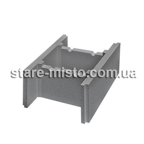 Блок незнімної опалубки бетонний 510x400x235