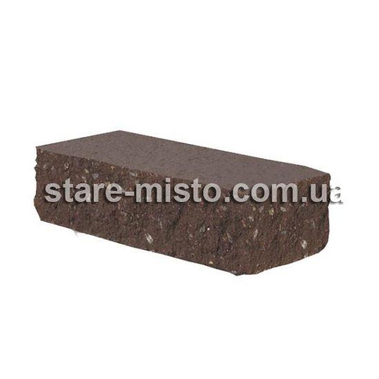 Фасадний камінь Рустик кутовий 225х100х65 венге