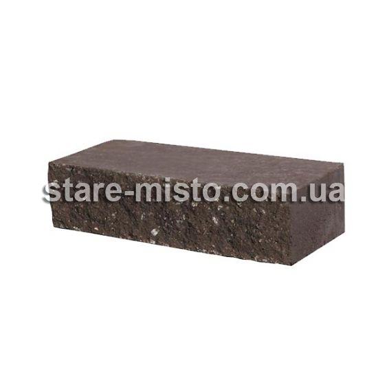 Фасадний камінь Рустик пустотілий 250х100х65 венге