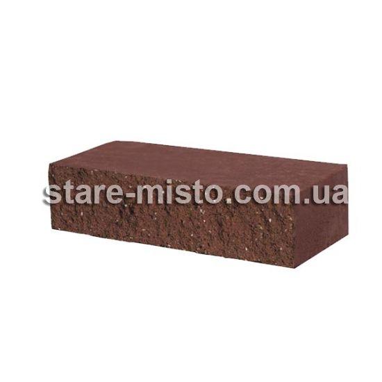 Фасадний камінь Рустик пустотілий 250х100х65 вишня