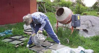 Кустарное производство тротуарной плитки